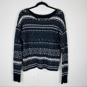 American Eagle Patterned Knit Sweater